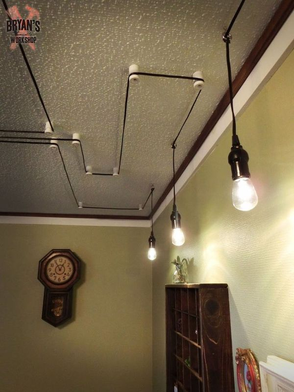 How To Decorate Your Ceiling With Your Light Fixture Cords With Images Hanging Light Fixtures Diy Light Fixtures Light Fixtures