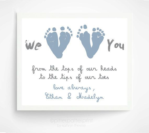 Fathers day gift from twins personalized gift for new dad we fathers day gift from twins personalized gift for new dad we love you baby footprint art gift for grandpa grandfather negle Image collections