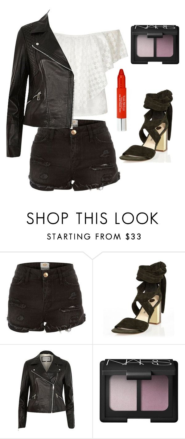 """Untitled #2031"" by maddie-xxx-1 ❤ liked on Polyvore featuring River Island, NARS Cosmetics and Trish McEvoy"