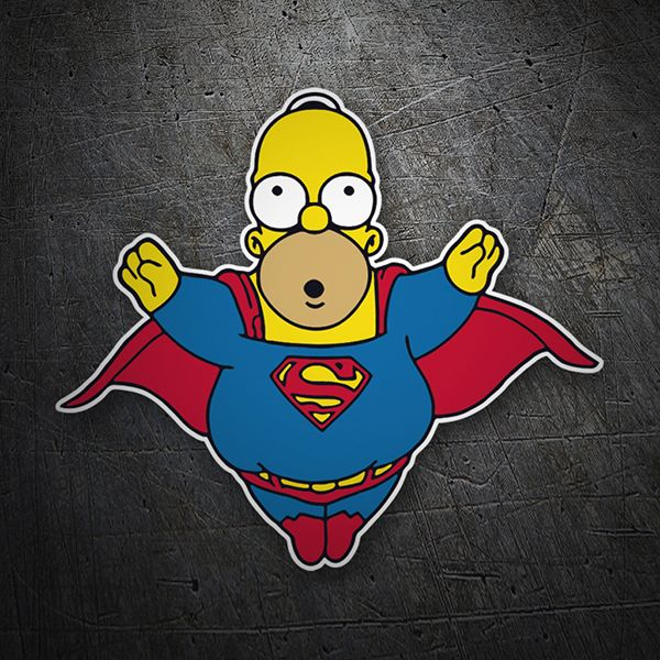 Pegatinas super homer homer simpsons pegatina
