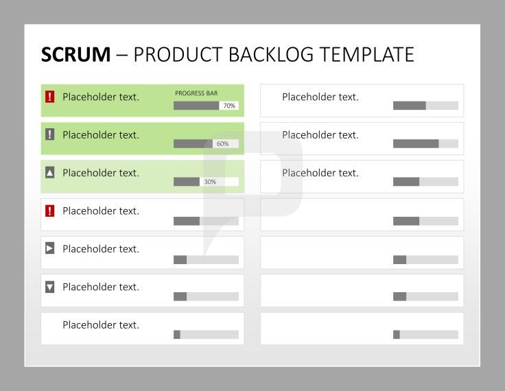 Scrum Product Management The Product Backlog Template For Scrum