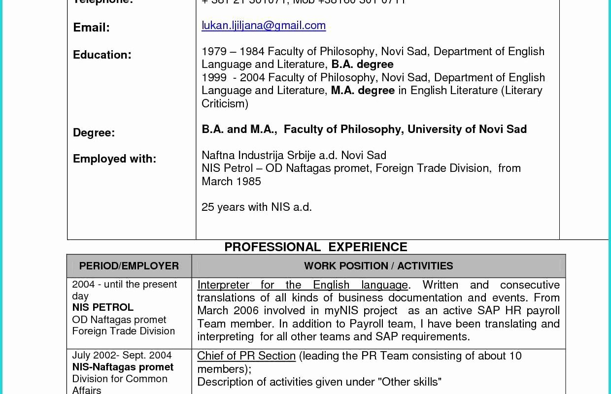 69 Cool Photos Of Sample Resume Of Engineering College Lecturer