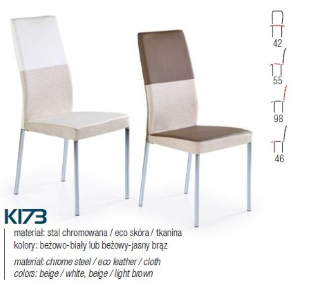 K178 fém lábas étkező szék Anyaga:krómozott acél/textil bőr/szövet ...