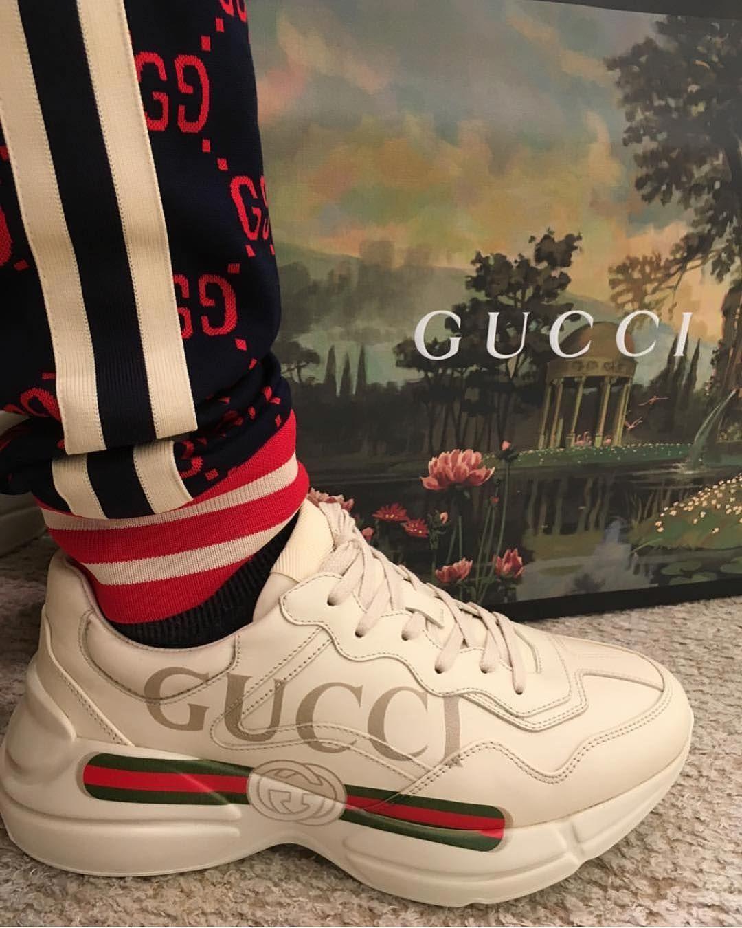 Gorgeous Gucci Sneaker Pants By Aattzzcc Guccisneakers Guccipants Sneakers Gucci Shoes Leather Shoes Woman