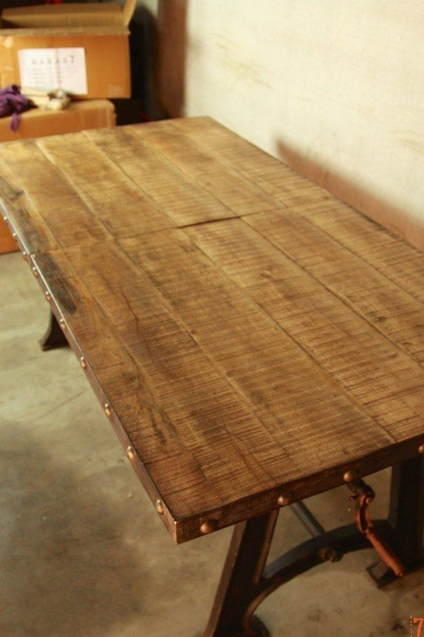 Table Industrielle Extensible Industrial Furniture Pinterest