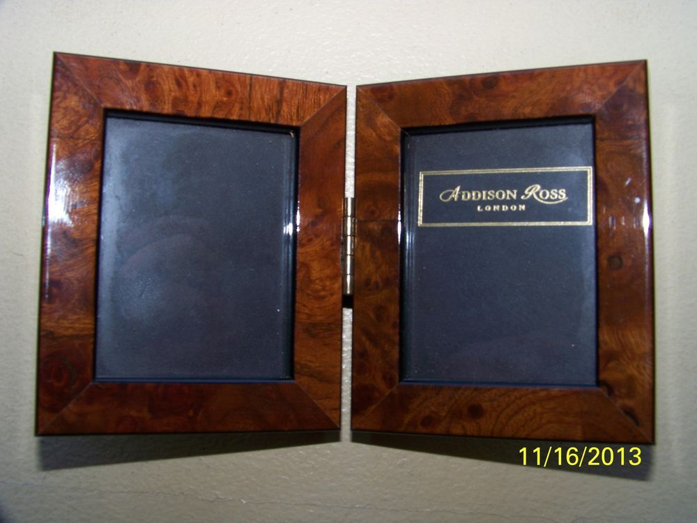 Addison Ross London Double Photo Frame Miniature Photo Size 1 3 4 X 2 1 4 Auction Minimum 29 90 Frame Double Photo Frame Double Photo