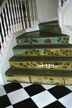 Angier   Fireboards, Theorem Paintings, Wallhangings, And Murals   Stair  Riser Murals