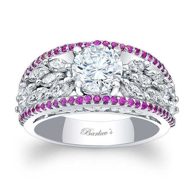 Barkev's Pink Sapphire Engagement Ring 7980LPS