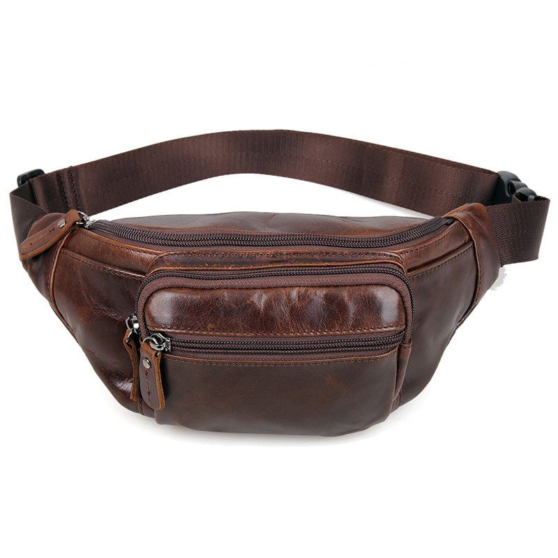Cheap travel fanny packs, Buy Quality fanny pack directly from China men  waist bag Suppliers  Casual Brown Genuine Cowhide Cow Leather Men Waist Bag  Pack ... d3f1c8a7b52