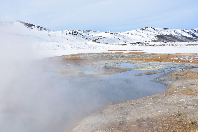 Tierras ardientes en Islandia