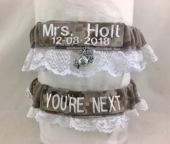 Air Force Wedding Garter: One To Keep And One To Throw