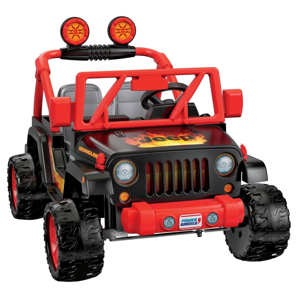Fisher Price Power Wheels Tough Talking Jeep Black Orange With Images Power Wheels Barbie Power Wheels Jeep
