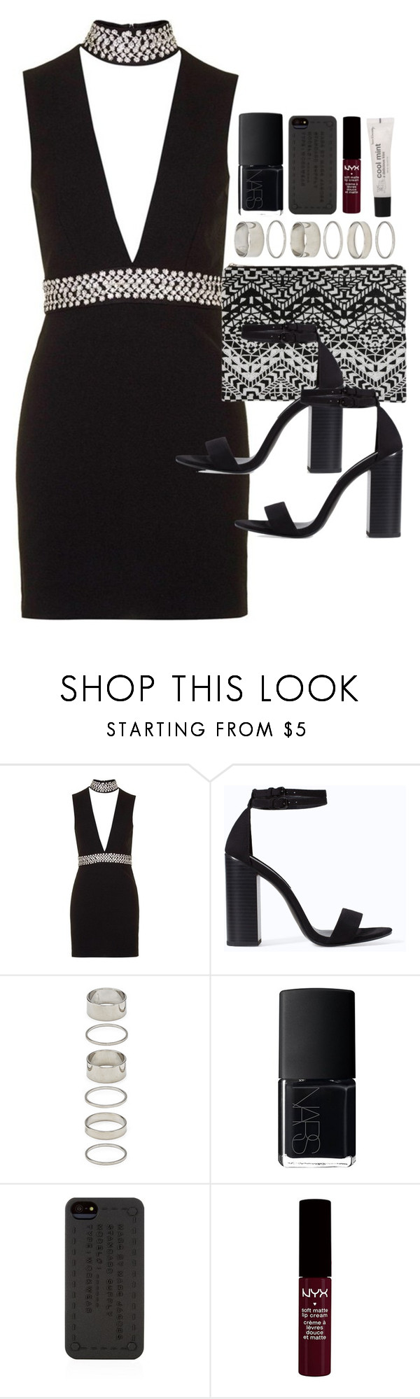 """""""Outfit for prom"""" by ferned ❤ liked on Polyvore featuring Topshop, Zara, Forever 21, NARS Cosmetics and Marc by Marc Jacobs"""