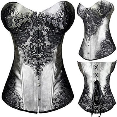 Floral Corset Sexy Gothic Bustier Steampunk Casual Tights Slimming Waist Trainer Active Wear Top Plus Size S-6XL For Women