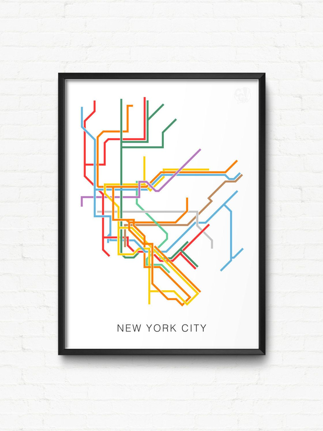 New York City Bus And Subway Map.New York City Print Of Nyc Subway Map City Transit Map Poster Nyc