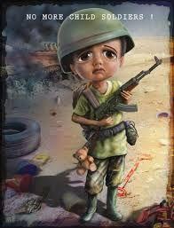 Bilderesultat for child soldiers illustration