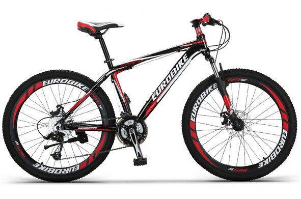 EUROBIKE 27.5 Inch Mountain Bike 27 Speed Aluminium Complete Bicycle