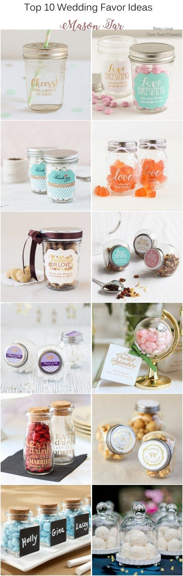 Top 10 Wedding Favor Ideas that Your Guests Will Actually Like | Jar ...