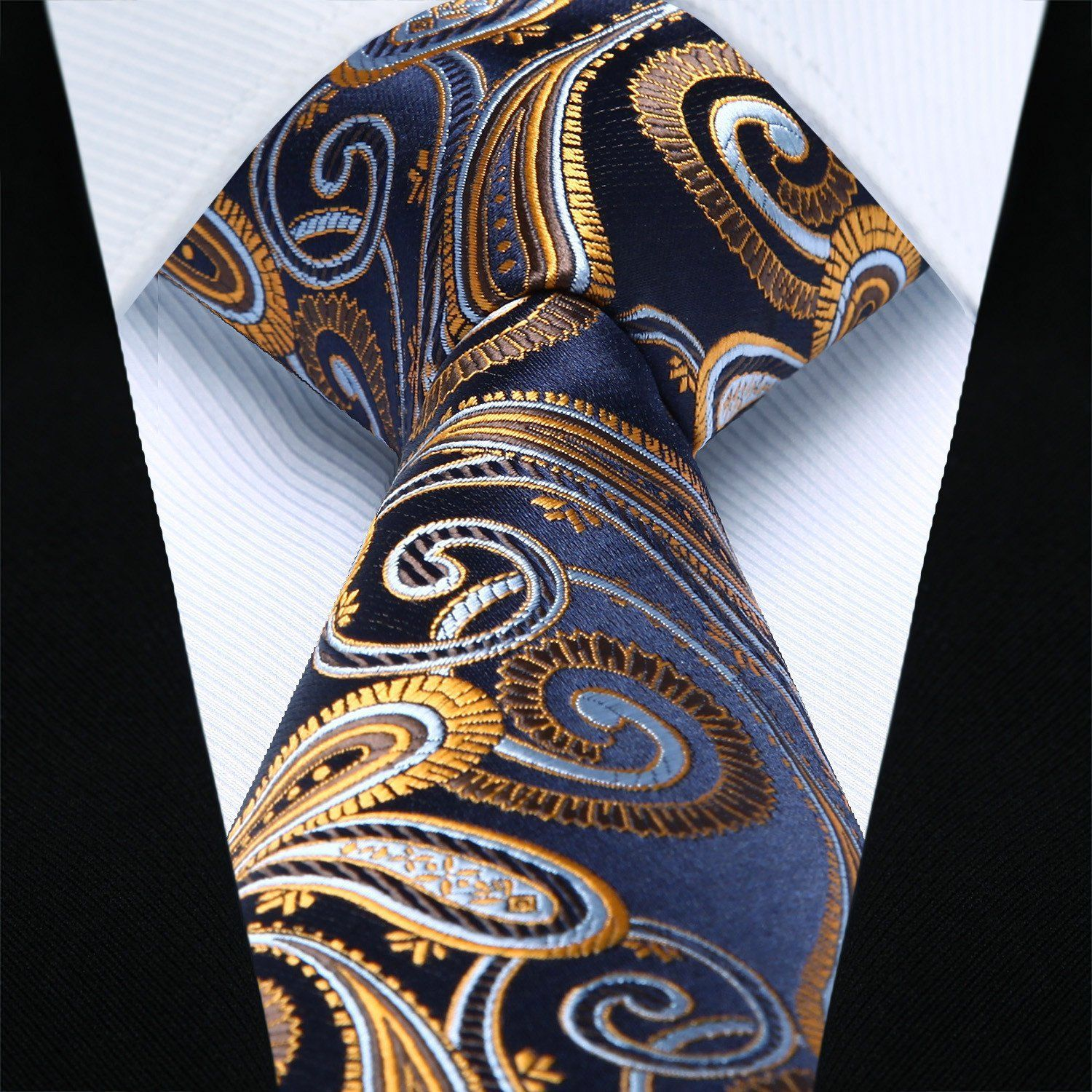 Elegant Ties Necktie for Men Boys Slim Novelty Paisley Necktie Wedding Necktie