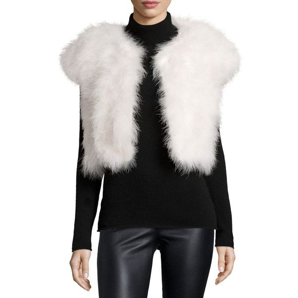 Jocelyn Marabou Feather Shrug ($90) ❤ liked on Polyvore featuring ...