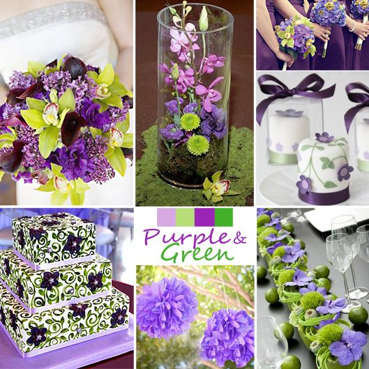 Your Color Story Choosing Wedding Colors Purple And Green