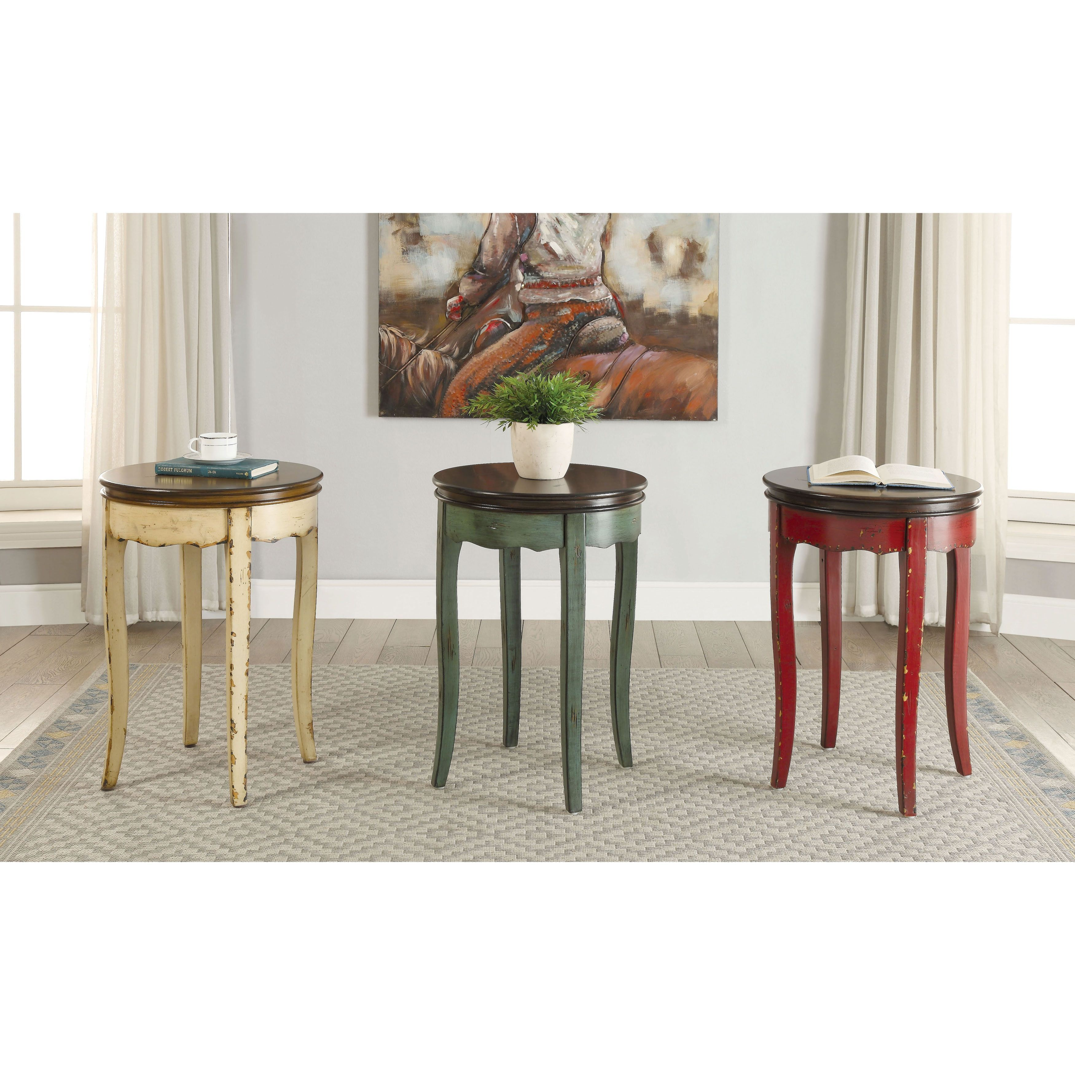 Furniture Of America Lira Vintage Style Two Tone Round Side Table White Brown Round Side Table Side Table White Side Tables [ 3500 x 3500 Pixel ]