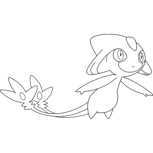 Free Azelf Template Pokemon Coloring Pages4