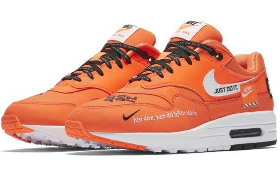 size 40 185d3 a5813 Official Images: Nike WMNS Air Max 1 Just Do It Total Orange The Nike WMNS