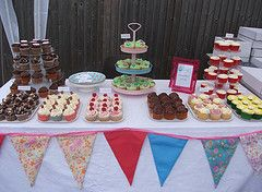 Different Colour Bunting With Images Cake Stall Cake Artisan