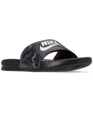 more photos 262e5 fe795 Nike Men s Benassi Just Do It Print Slide Sandals from Finish Line - Black  15