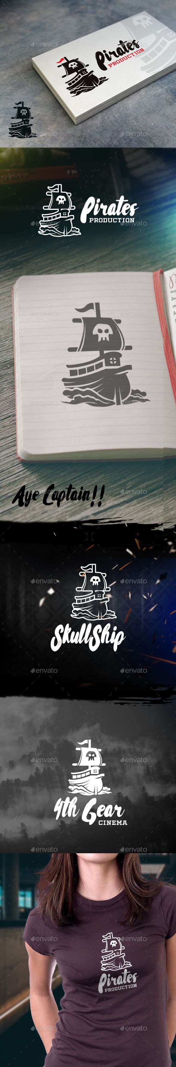 Pirate Ship PSD Logo Template • Only available here http