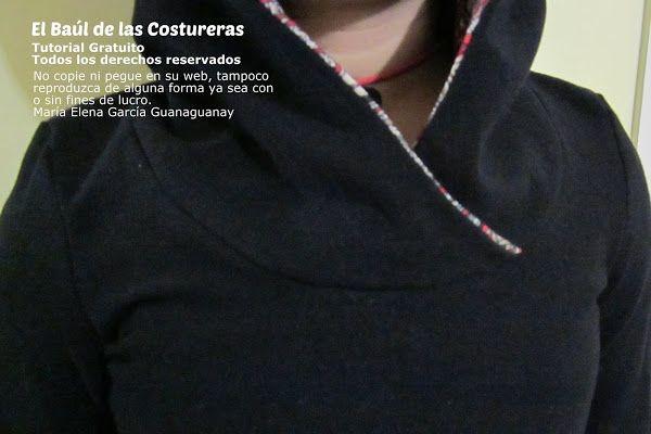 Instrucciones de costura para hacer una sudadera, polerón o polera con  capucha y patrón o