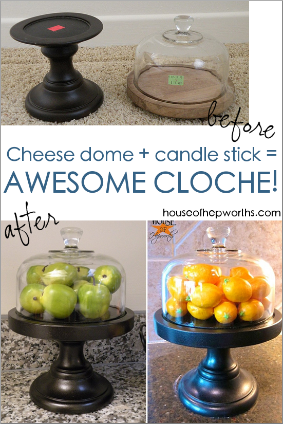 Cheese Dome turned Cloche - House of Hepworths