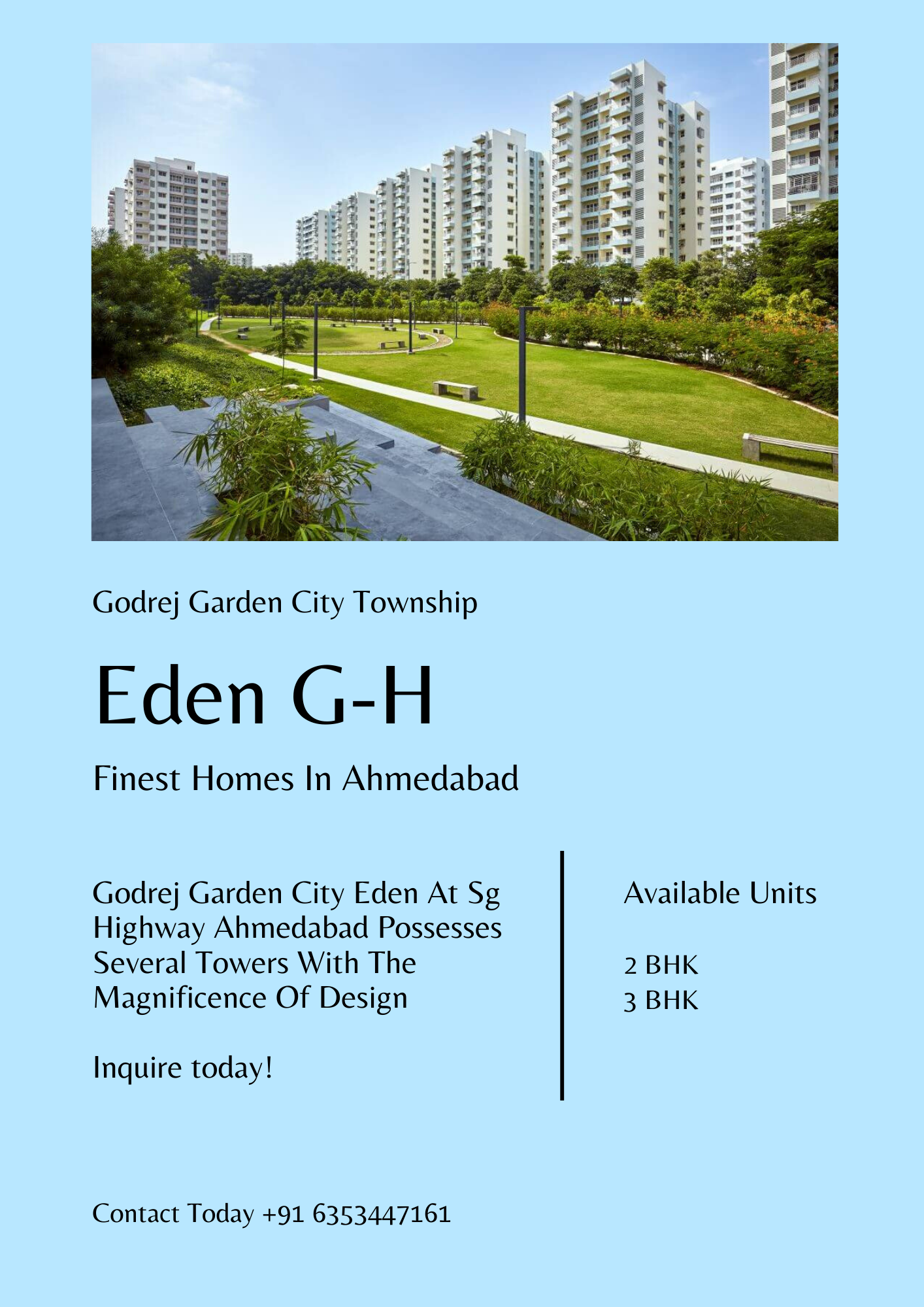 Buy 2 3 Bhk Apartment At Godrej Garden City Eden Ahmedabad In