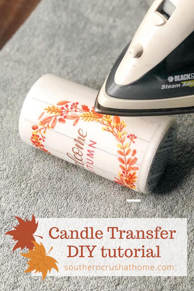Candle Transfer DIY