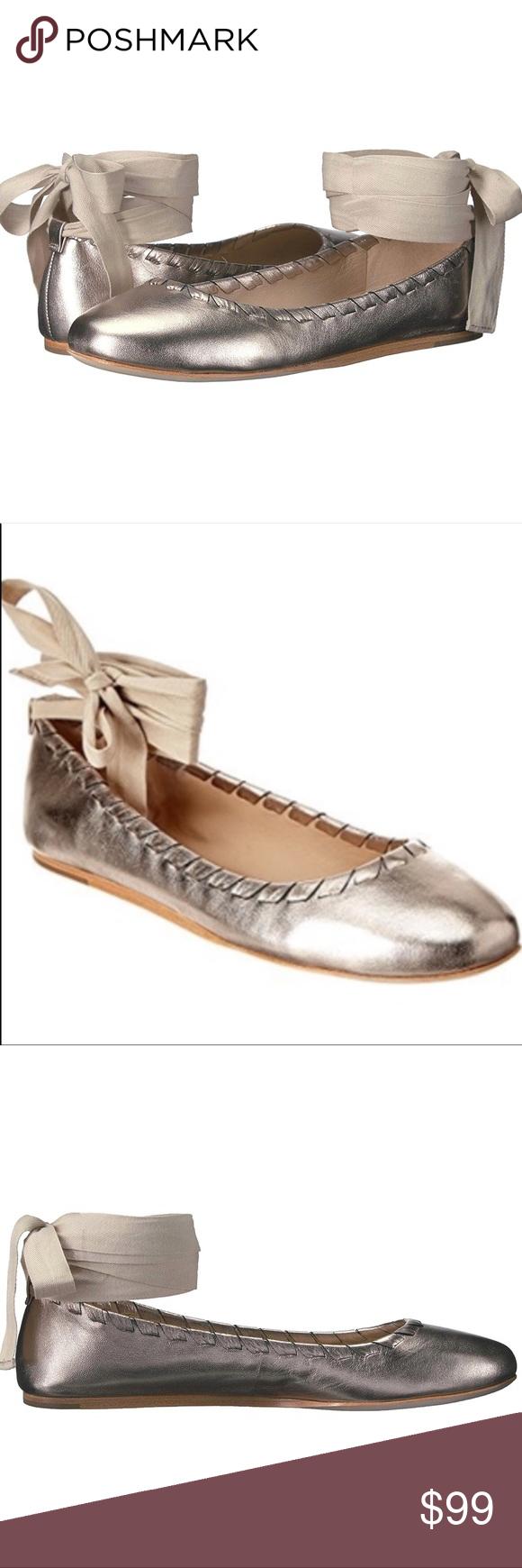 Via Spiga Baylie Lace-up Ballet Flat in Rose Gold Via Spiga Baylie Lace-Up Balle…
