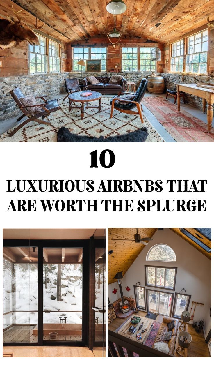 Check out these 10 luxurious Airbnbs in Ontario #ontario #airbnb #rental #shortterm #canada #luxurytravel