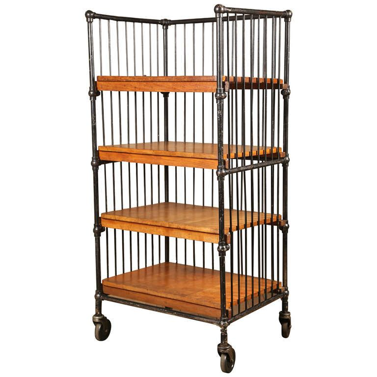 Wood And Metal Jackson Kitchen Cart: Pin By Dawn Land On Bookcases & Books