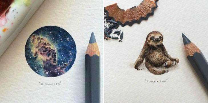 Lorraine Loots a její neuvěřitelné miniaturní kresby