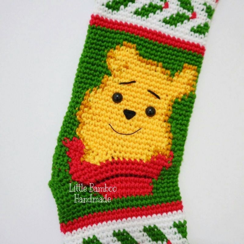 Winnie The Pooh Christmas Stocking crochet pattern by Little Bamboo ...