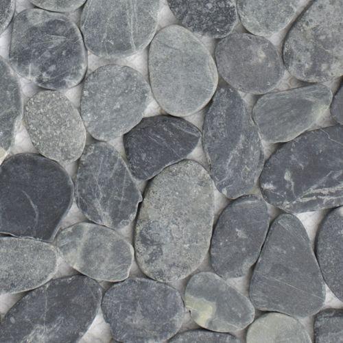 Mosaik Fliesen Dusche Bad Naturstein Kiesel Boden 11