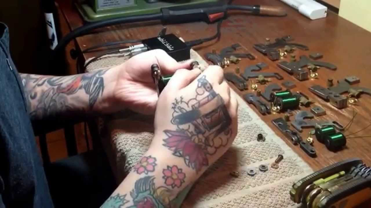 How to design a new school tattoo leaftv - Handmade Tattoo Machine Coming To Life