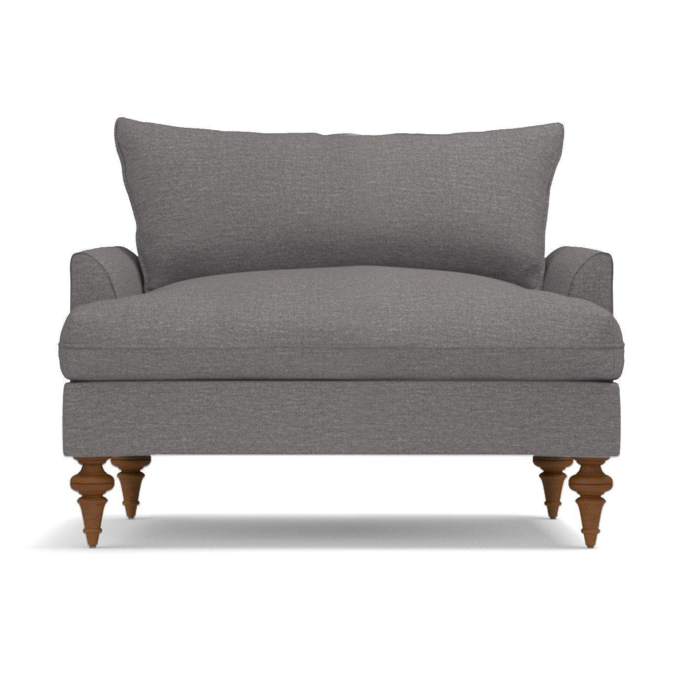 Saxon King Chair Leg Finish Pecan King Chair Cozy Sofa