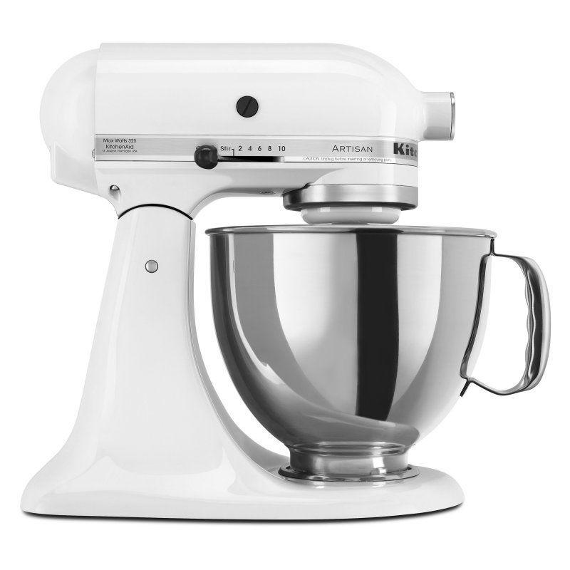 Kitchenaid artisan ksm150pswh 5 qt tilthead stand mixer