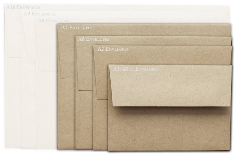 200 pk of A7 brown bag envelopes $3266 before shipping Invitation