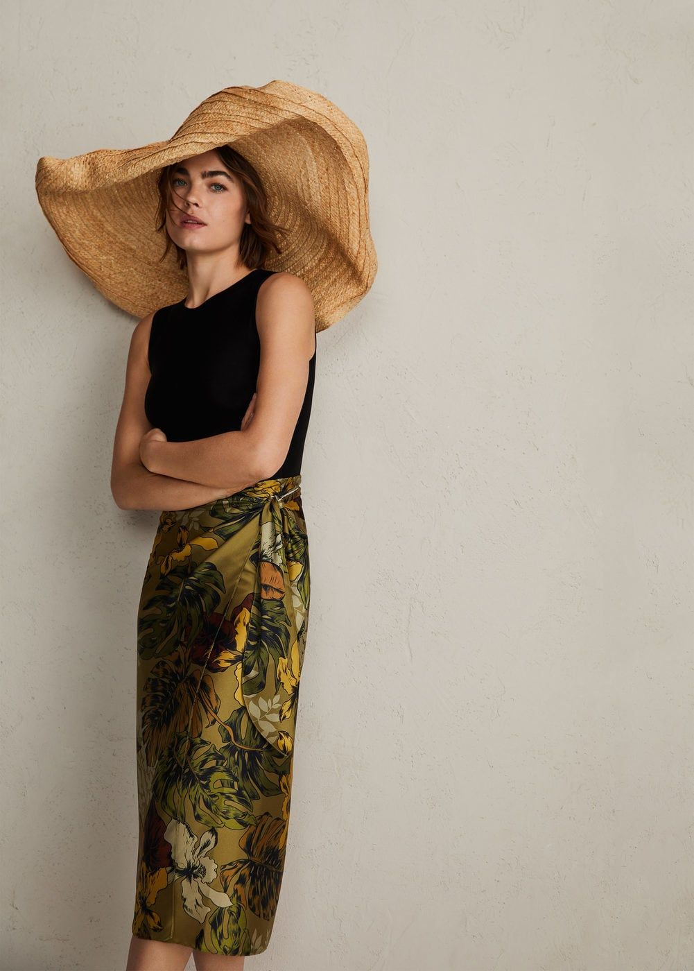8014693b9 Floral midi skirt - Women | What I want to wear | Mango skirts, Midi ...