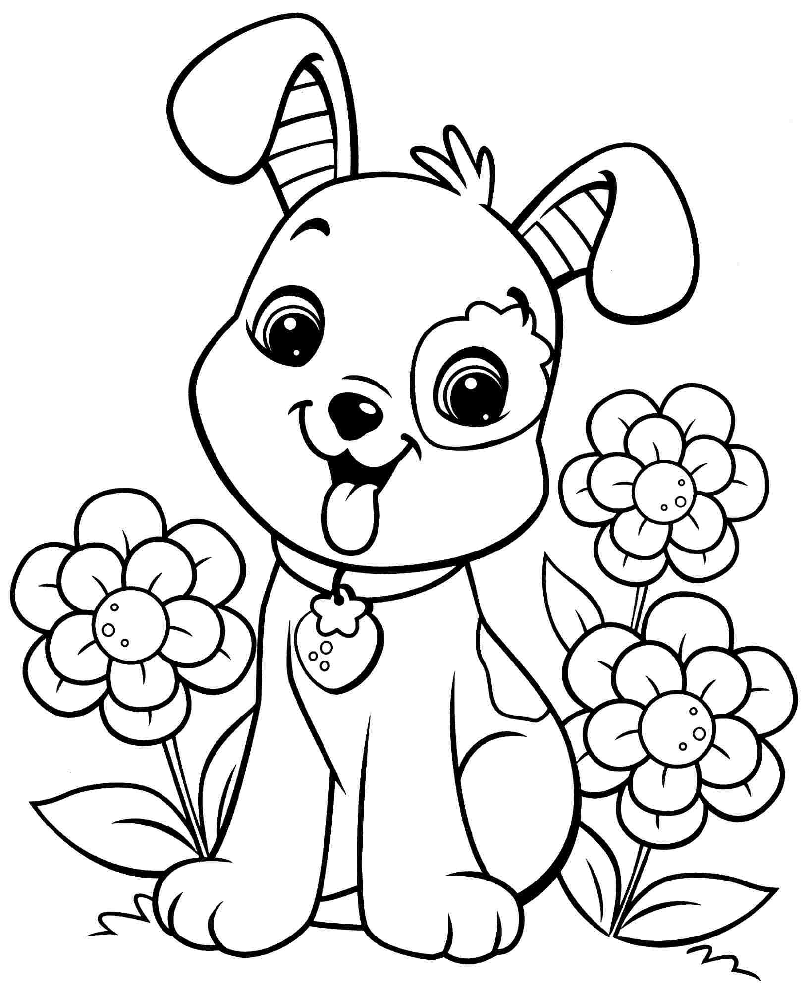 Animal Friends Coloring Page