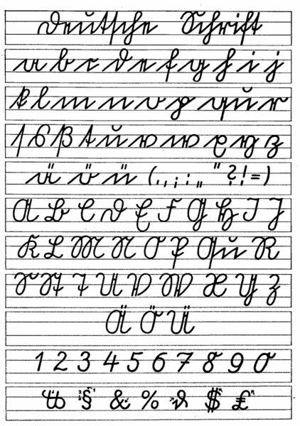 Photo of Sütterlin Schrift