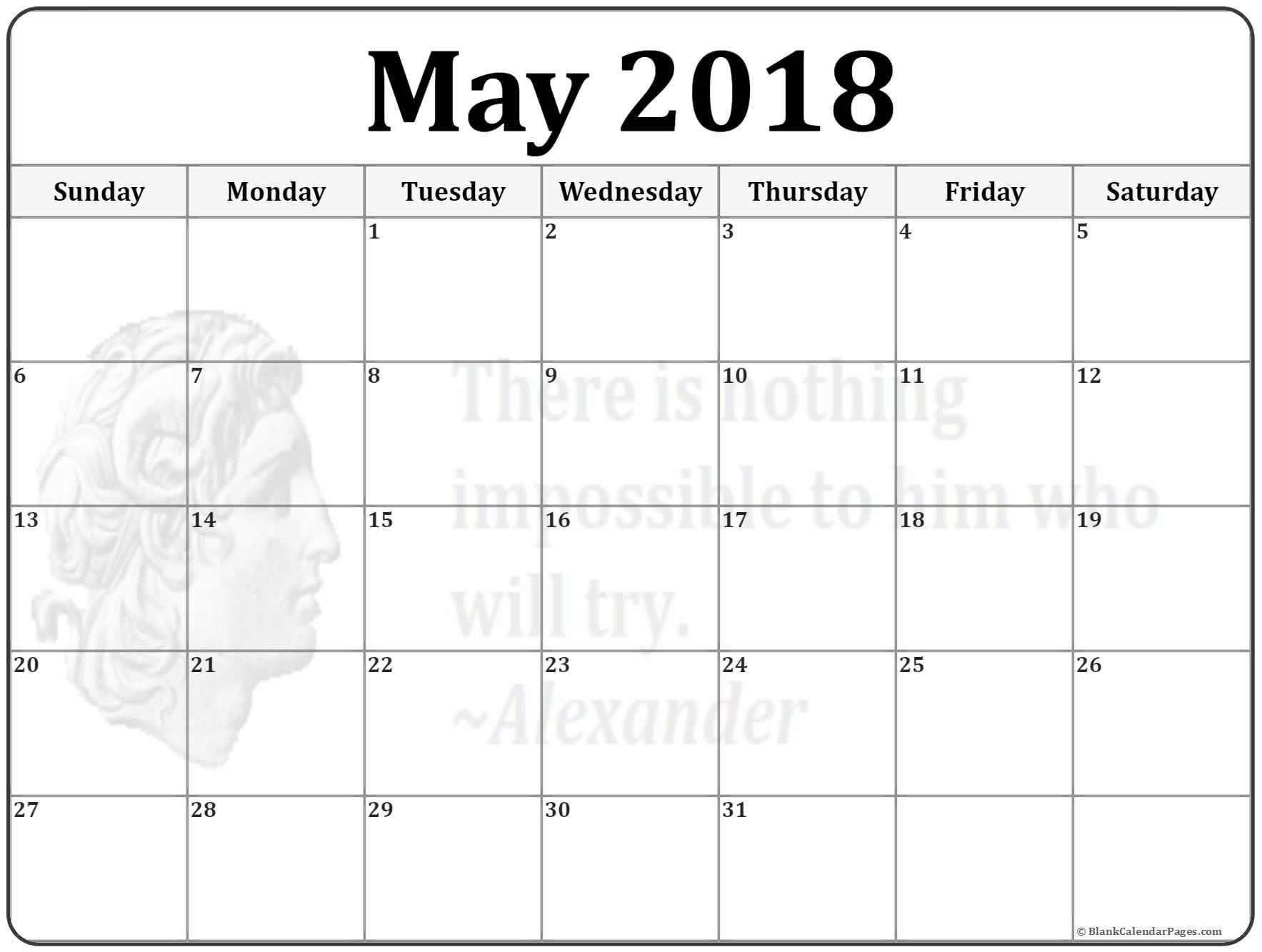 May Printable Calendar May Calendario