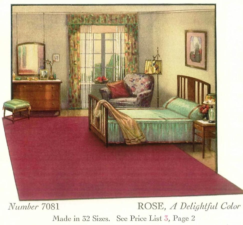 1930 S Bedroom Love The Rug 1930s Home Decor Bedroom Vintage Discount Bedroom Furniture